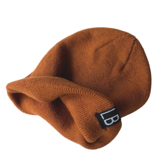 Little Bipsy - Knit Beanie in Rust