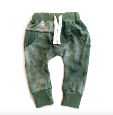 Little Bipsy - Tie Dye Joggers in Sage