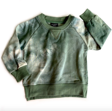Little Bipsy - Tie Dye Pullover Sweatshirt in Sage
