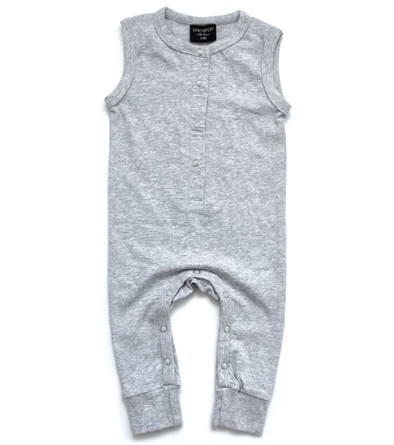 Little Bipsy sleeveless romper grey