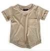 Little Bipsy taupe pocket tee