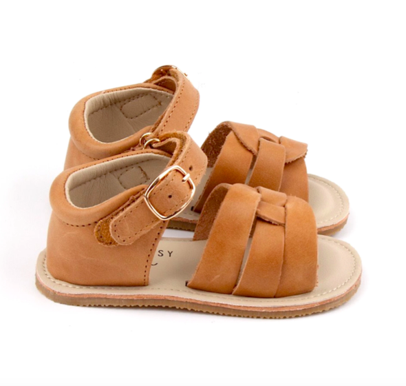 Little Bipsy camel sandals