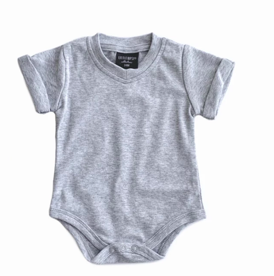 Little Bipsy Heather Grey onesie