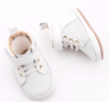 Little Bipsy - Leather Baby Hightops in White (Size 4)