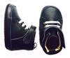 Little Bipsy - Leather Baby Hightops in Black (Size 4)