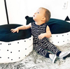 Little Bipsy - Tank Romper with Snaps in Black Stripes