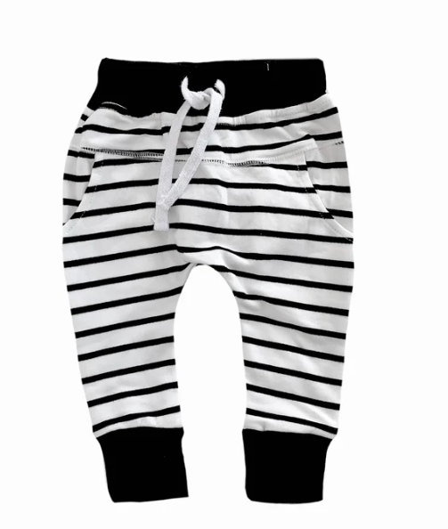 Little Bipsy striped joggers
