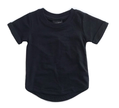 Little Bipsy - Basic Swoop Tee in Black