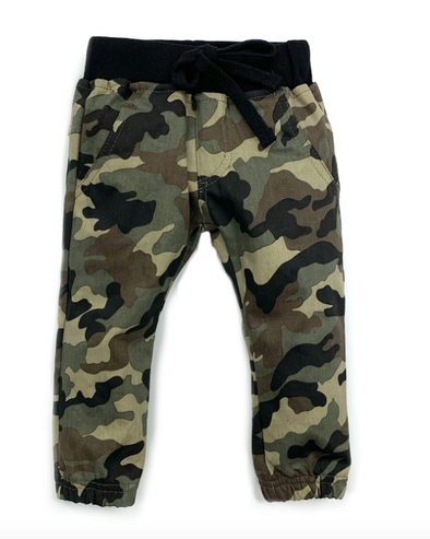 Little bipsy cargo camo joggers green