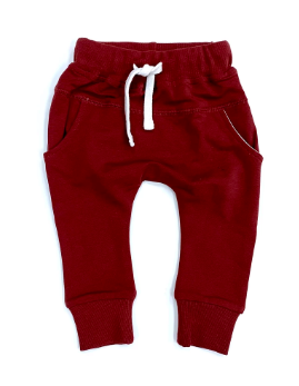 Little Bipsy pocket joggers maroon