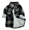 Little Bipsy - Buffalo Plaid Flannel in Charcoal and Black