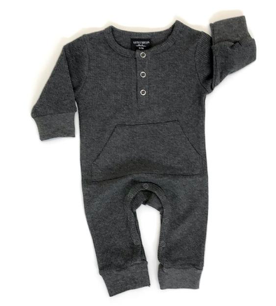 Little Bipsy Thermal henley romper