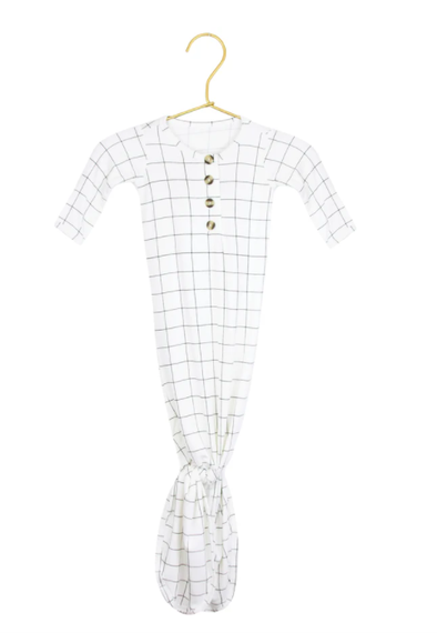 Lou Lou and Company maxwell grid knot gown