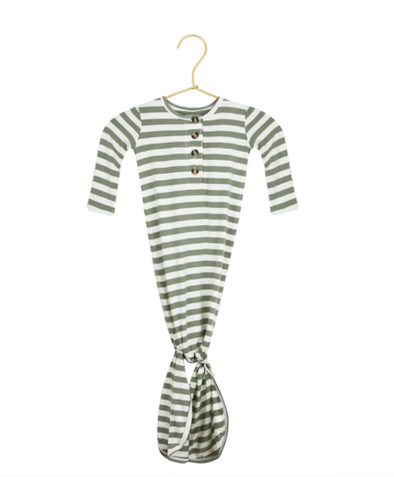 Lou Lou & Company morgan green stripe knot gown