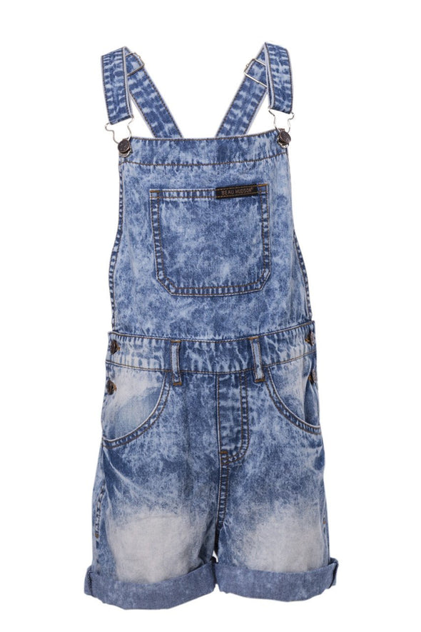 Beau Hudson denim overalls shorts