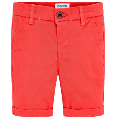 Mayoral boys twill shorts in coral