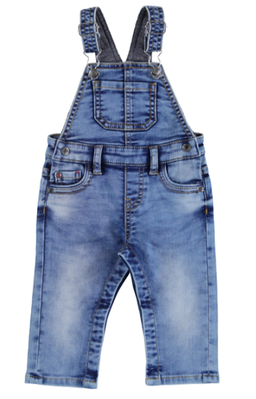 Mayoral baby boys soft denim overalls