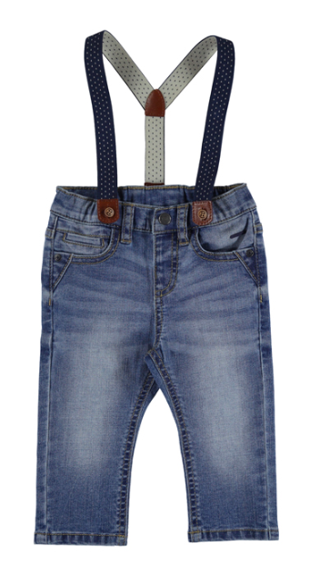 Mayoral - Baby Boys Slim Fit Denim with Suspenders