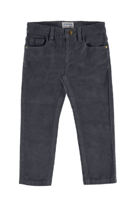 Mayoral - Boys Slim Fit Slim Cords in Grey Ash (Size 5)