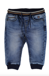 Mayoral - Baby Boys Soft Denim Joggers in Medium Wash (Size 9mo and 12mo)