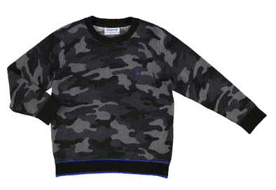 Mayoral - Boys Camo Sweater in Coal