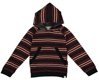 Me & Henry sweater hoodie in cranberry and cream