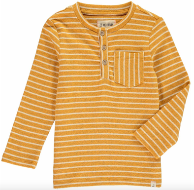 Me and Henry striped henley gold