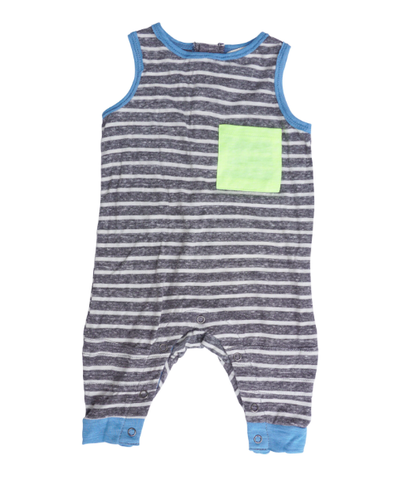 Miki Miette Arcade tank romper with neon pocket