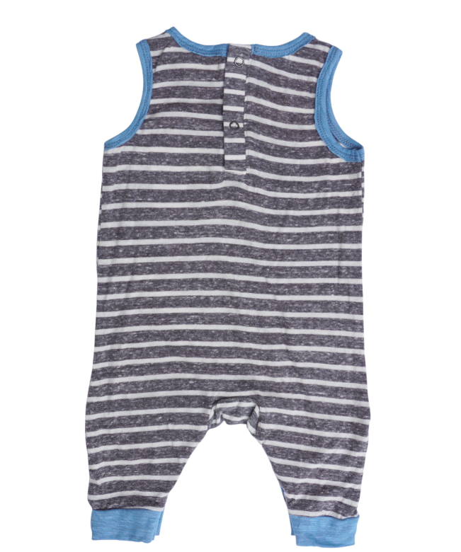 Miki Miette - Andres Tank Romper in Grey and Blue