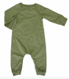 Grey Vintage - Baby Playsuit in Army Green