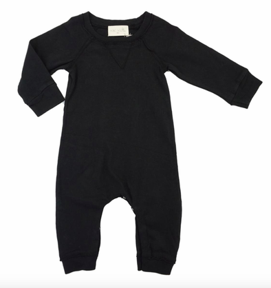 Grey Vintage black baby playsuit