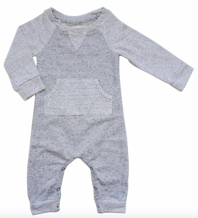 Miki Miette Leo Heather Grey Romper