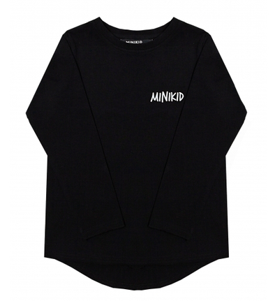 Minikid long sleeve black tee
