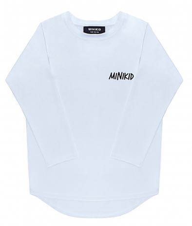 MINIKID - Classic Long Sleeve Tee in White (Size 7/8)