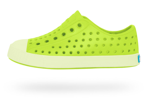 Native shoes green glo