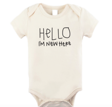 Infant Hello I'm New Here onesie