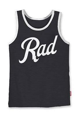 Prefresh Rad tank in black and white