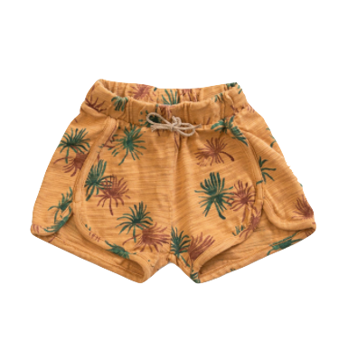 baby palm shorts in mustard