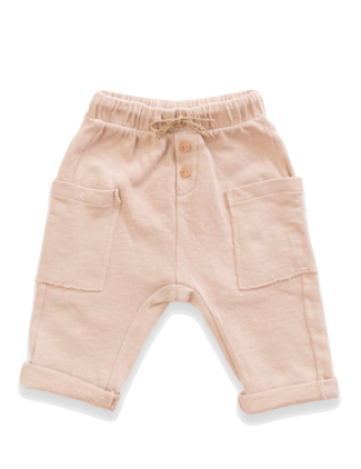 Play UP - Baby Soft Pocket Pants in Oatmeal