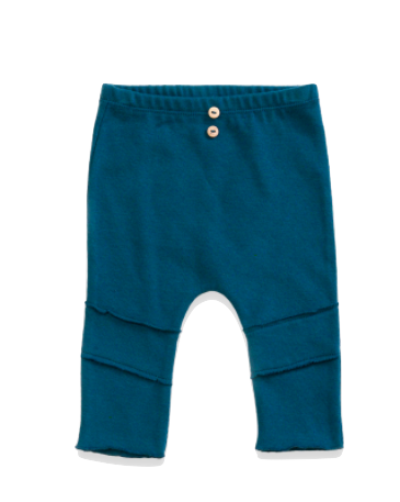 soft baby leggings in teal