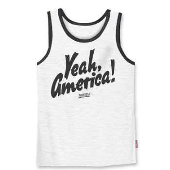Prefresh Yeah America tank white and black