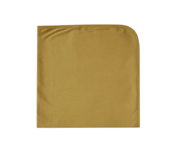 Quincy Mae - Organic Ribbed Baby Swaddle in Ocre