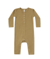 Quincy Mae ribbed jumpsuit in ocre