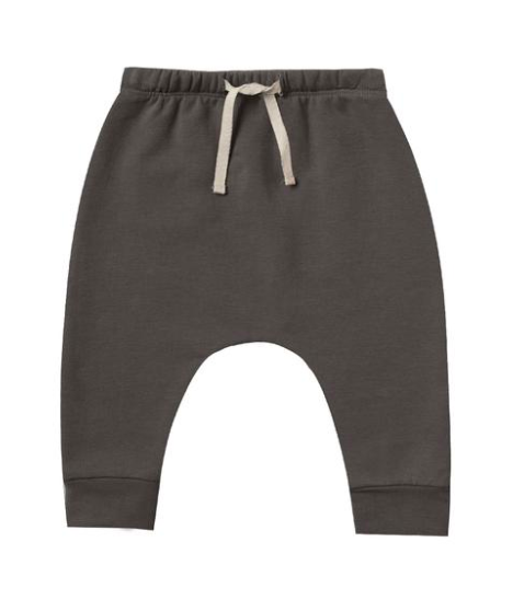 Quincy Mae fleece drawstring pants coal