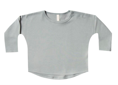 Quincy Mae long sleeve tee dusty blue