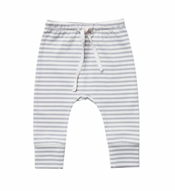 Quincy Mae drawstring pants in grey stripes