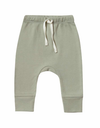Quincy Mae drawstring pants in sage