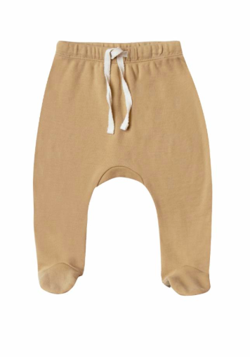 Quincy Mae - Baby's Footed Pant in Honey (Size 3-6mo)