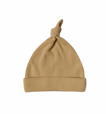 Quincy Mae  baby knotted hat honey