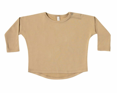 Quincy Mae long sleeve baby tee honey